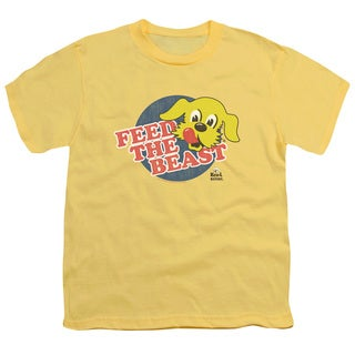 Ken L Ration/Feed The Beast Short Sleeve Youth 18/1 in Banana