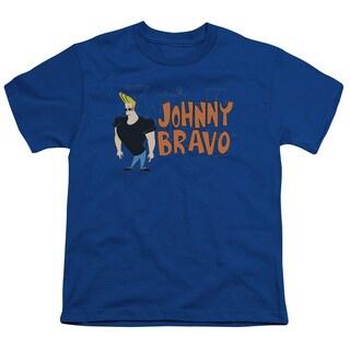 Johnny Bravo/Johnny Logo Short Sleeve Youth 18/1 in Royal