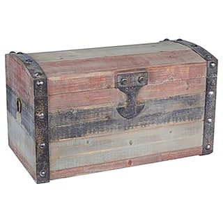 Weathered Wooden Small Storage Trunk