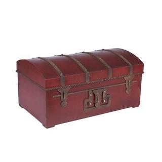 Red Metal Large Vintage Storage Chest