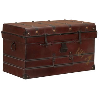 Household Essentials Red Large Steamer Trunk