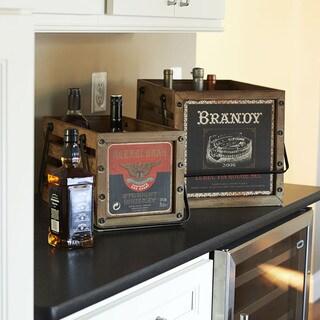 Household Essentials Brown Wood Decorative Crates (2-piece Set)