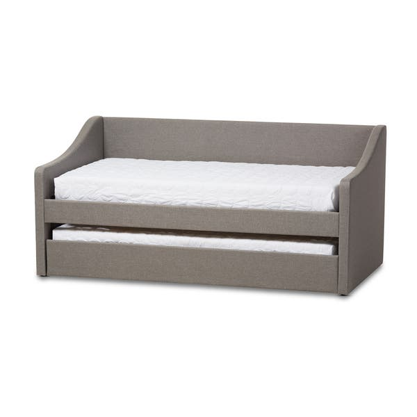 Shop Baxton Studio Kallikrates Modern Daybed with Trundle ...
