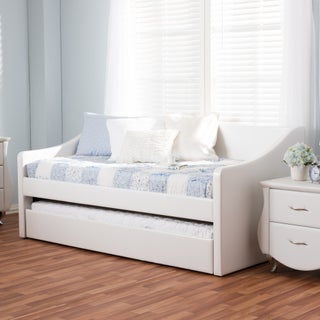 Baxton Studio Kallikrates Modern Daybed with Trundle Bed (Option: White)