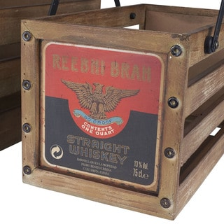 Household Essentials Wooden Small Whiskey Crate