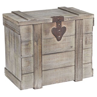 Household Essentials Grey Wooden Small Home Chest
