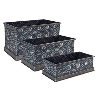 Chelsea Metal Storage Boxes (Set of 3)