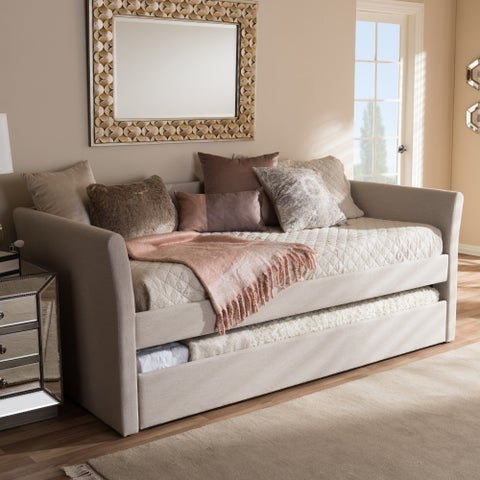 Baxton Studio Kassandra Modern and Contemporary Daybed with Guest Trundle Bed
