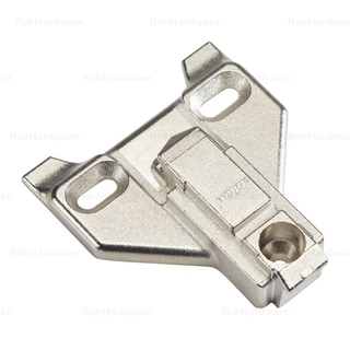 Rok Hardware 3-millimeter Blum Clip Face Frame Off Center Mounting Plate (Pack of 10)