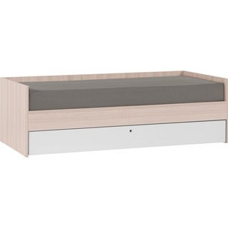 Voelkel Spot Collection, Twin Daybed With Graphite Drawer and Wooden Bedslats on Tape.