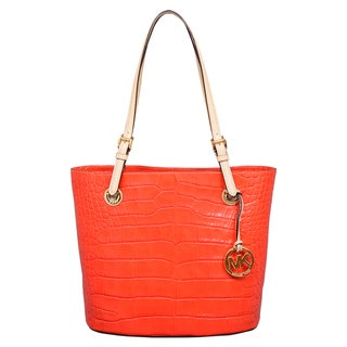 Michael Kors Medium Jet Set Item Orange Tote Bag