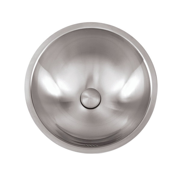stainless steel 16 inches 18 gauge brushed satin finish round bathroom sink - Stainless Steel Bathroom Sinks