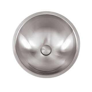 Stainless Steel 16-inches 18-Gauge Brushed Satin Finish Round Bathroom Sink