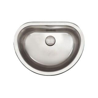 Satin18-gauge Stainless Steel D-bowl Bathroom Sink