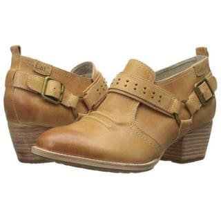 Cat by Caterpillar Women's Liza Mint Green/Rust Brown Leather Shoes