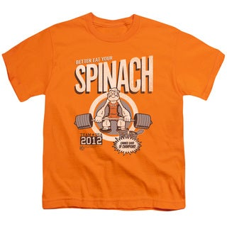 Popeye/Eat Your Spinach Short Sleeve Youth 18/1 Orange