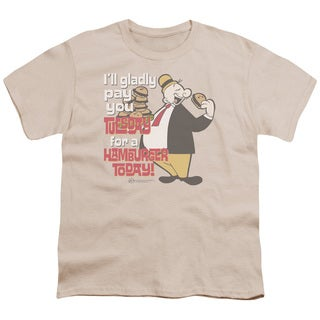 Popeye/Tuesday Short Sleeve Youth 18/1 in Sand