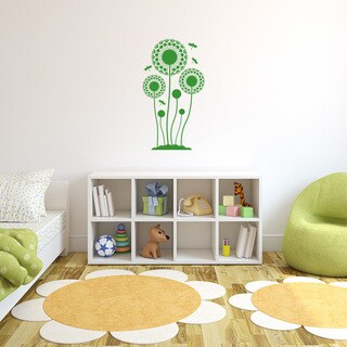Style and Apply Dandelions with Dragonfly Vinyl Wall Decal