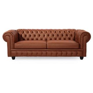 Kardiel Tufted Premium Aniline Leather Chesterfield Sofa