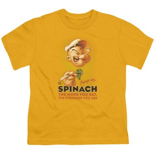 Popeye/Spinach Retro Short Sleeve Youth 18/1 Gold