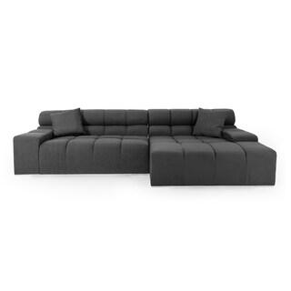 Cubix Premium Cashmere Modular Right Sectional Sofa (3 options available)