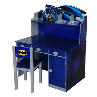 O'Kids Batman Blue MDF Writing Desk and Chair Set