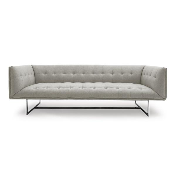 Kardiel Edward Heather White Cashmere Mid Century Modern Classic Sofa