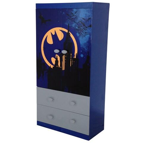 O'Kids Batman Blue MDF 2-drawer Wardrobe
