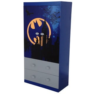 O'Kids Batman Blue MDF 2-drawer Wardrobe