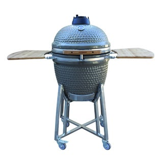 BergHOFF Studio Ceramic Gray Kamado Style Grill and Smoker