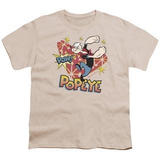 Popeye/Pow! Short Sleeve Youth 18/1 in Sand
