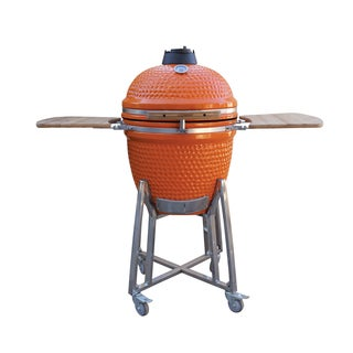 BergHOFF Studio Orange Ceramic Large Kamodo-style BBQ Grill and Smoker