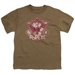Popeye/Strong To The Finish Vintage Short Sleeve Youth 18/1 Safari Green