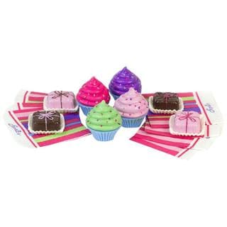 Sophia's JL-CP 18-inch Doll Play Food Cupcakes, Petit Fours, and Napkins