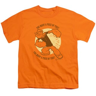 Popeye/You Want A Piece Of This? Short Sleeve Youth 18/1 in Orange