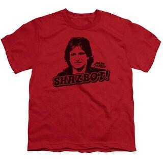 Mork & Mindy/Shazbot Short Sleeve Youth 18/1 Red