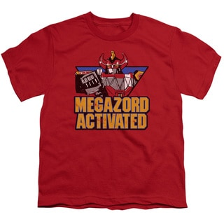 Power Rangers/Megazord Activated Short Sleeve Youth 18/1 in Red