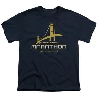 Star Trek/Marathon Logo Short Sleeve Youth 18/1 in Navy