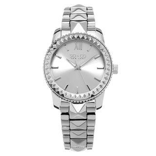 New York Women's Quartz Madison Silvertone Stainless Steel Link Bracelet Watch