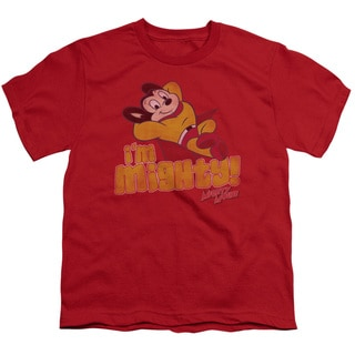 Mighty Mouse/I'M Mighty Short Sleeve Youth 18/1 in Red
