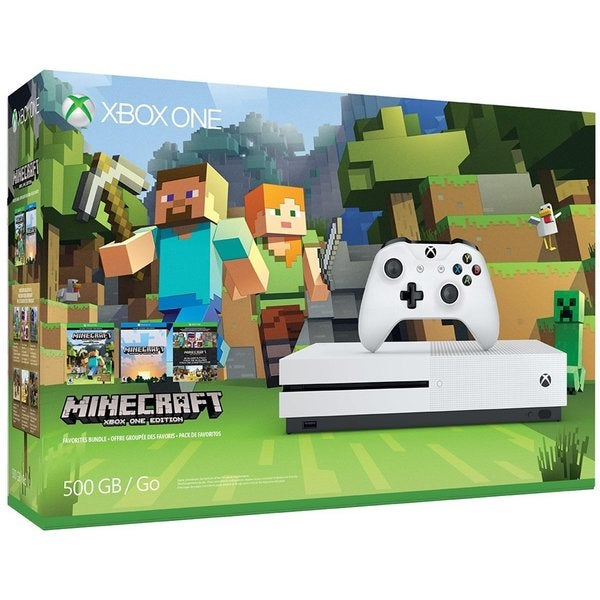 Microsoft Xbox One S Mindcraft Collection Bundle (500GB)