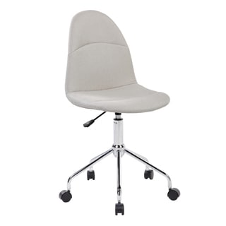 Modern Designs Black/Beige Fabric/Chrome Armless Task Chair