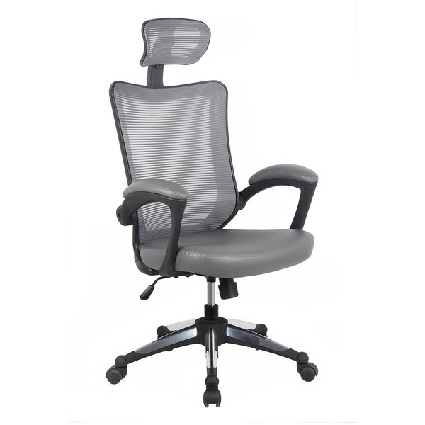 shop modern designs grey mesh high back executive office chair