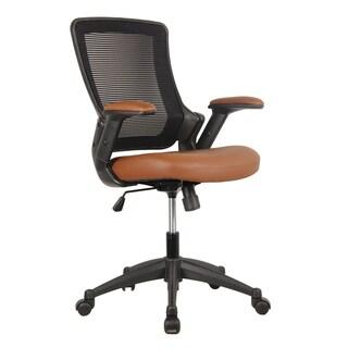 Modern Designs Brown/Black Mesh Mid-back Height Adjustable Armrest Task Office Chair