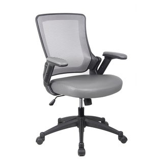 Modern Designs Grey Mesh Mid-back Height-adjustable Arms Task Office Chair