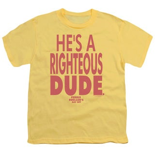 Ferris Bueller/Righteous Dude Short Sleeve Youth 18/1 in Banana