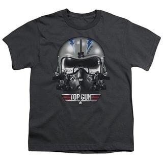 Top Gun/Iceman Helmet Short Sleeve Youth 18/1 in Charcoal