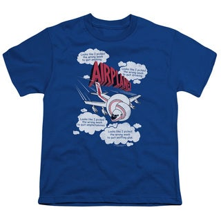Airplane/Picked The Wrong Day Short Sleeve Youth 18/1 in Royal