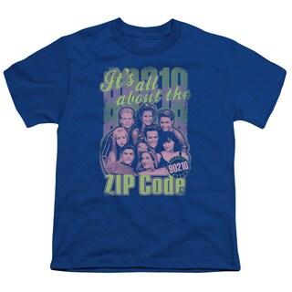 90210/Zip Code Short Sleeve Youth 18/1 in Royal