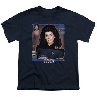 Star Trek/Deanna Troi Short Sleeve Youth 18/1 in Navy